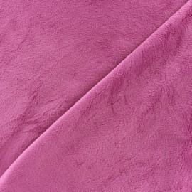 Tissu velours minkee doux ras Bleuet x 10cm