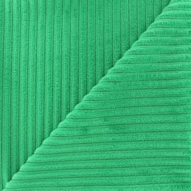 Tissu velours minkee à côtes Marine x 10cm