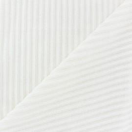 Tissu velours minkee à côtes Violine x 10cm