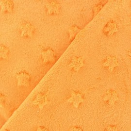 Tissu velours minkee doux relief à étoiles Glycine x 10cm