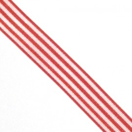 Ribbon with stripes - Red