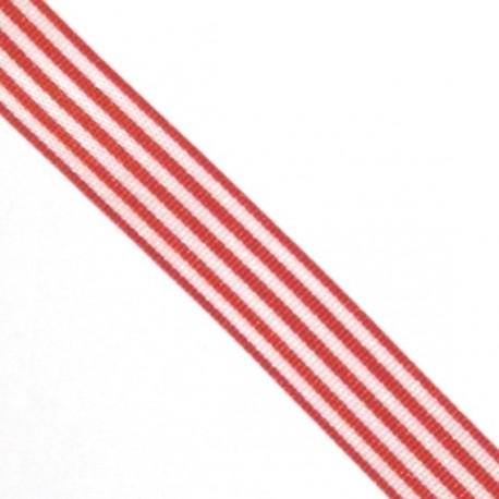 Ruban rayures rouge