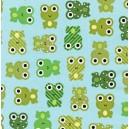 Tissu enduit coton grenouille  x 10cm