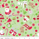 Tissu Holidays main green x 10cm
