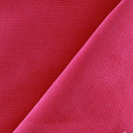 Tissu velours milleraies 200gr/ml framboisine x10cm