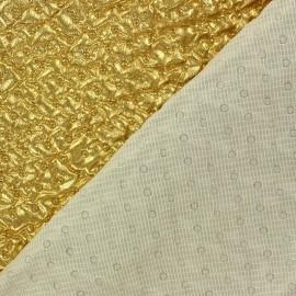 Tissu doublure matelassé froncé recto Or x 10cm