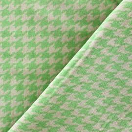 Tissu Velours ras pied de poule anis fond sable x 10cm
