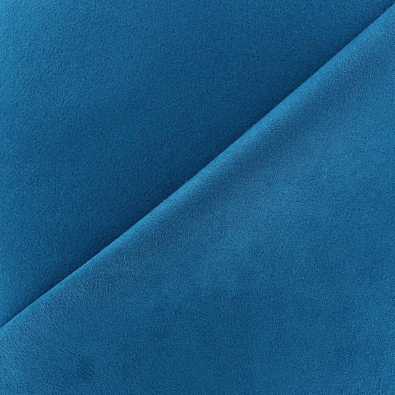 Tissu su dine volige bleu canard x 10cm ma petite mercerie - Tissu velours bleu canard ...