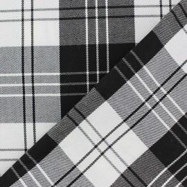 Tissu Tartan Noir et Blanc x 10cm