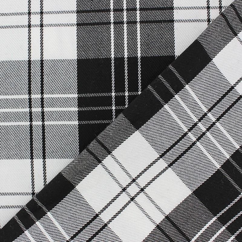 tissu classic tartan noir et blanc x 10cm ma petite mercerie. Black Bedroom Furniture Sets. Home Design Ideas