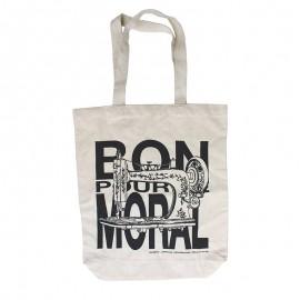 Totebag Bon Pour Le Moral by Carmen - black & white