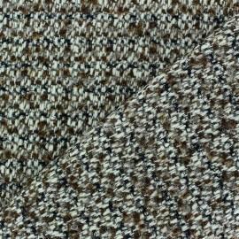 Tissu Tweed Lobelia Brun Fil lurex noir x 10cm