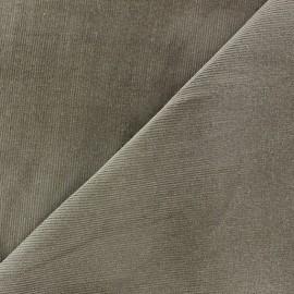 Tissu velours milleraies Melda 200gr/ml brun x10cm