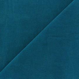 Tissu velours milleraies Melda 200gr/ml bleu lagon x10cm