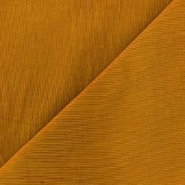 Tissu velours milleraies Melda 200gr/ml ocre x10cm