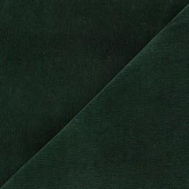 Tissu velours milleraies Melda 200gr/ml vert sapin x10cm