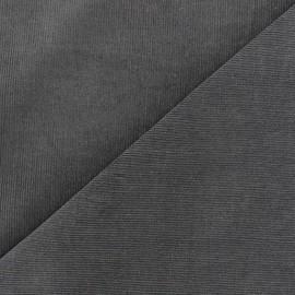 Tissu velours milleraies Melda 200gr/ml gris x10cm