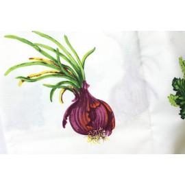 Tissu enduit Marché aux légumes x 10cm
