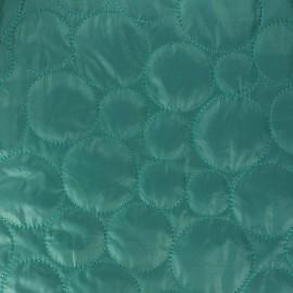 Tissu matelassé coeurs recto-verso vert x 10cm