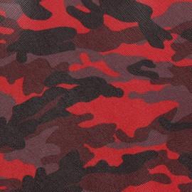 Simili cuir Camouflage fuchsia x 10cm