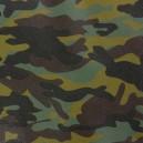 Simili cuir Camouflage snow x 10cm