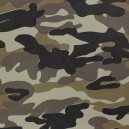 Simili cuir Camouflage jungle x 10cm