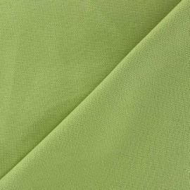 Tissu toile de coton uni CANEVAS V2 Vert lime x 10cm