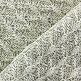 Tissu Maille tricot Anaelle Ecru x 10cm