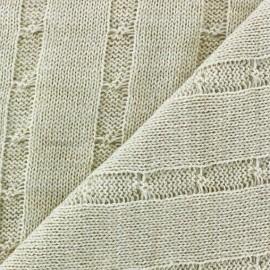 Tissu Maille tricot Hamlette Blanc cassé x 10cm