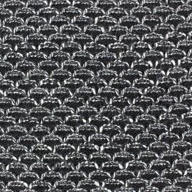 Tissu Maille tricot Lisette Noir Chiné x 10cm