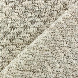 Tissu Maille tricot Lisette Blanc cassé x 10cm