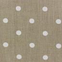 Tissu lin enduit Marilyn pois gris foncé sur fond blanc x 10cm