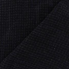 Tissu Maille tricot Finel Bleu nuit  x 10cm