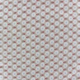 Tissu coton sergé Only for you bleu ciel x 10cm