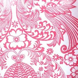Tissu toile cirée paraiso rose x 10cm