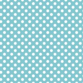 Tissu enduit small dots ton sur ton Aqua x 10cm