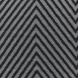 Tissu mousseline plumetis chevron blanc x 50 cm