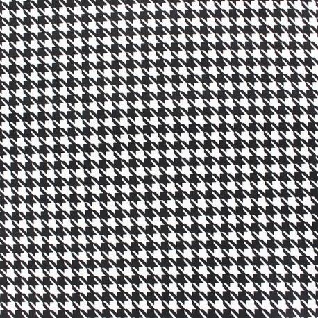 tissu popeline pied de poule noir blanc x 10cm ma. Black Bedroom Furniture Sets. Home Design Ideas