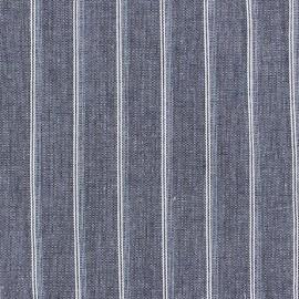 Tissu lin à rayures Wallin Marine x 10cm