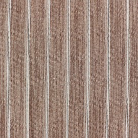 Tissu lin à rayures Wallin Brique x 10cm