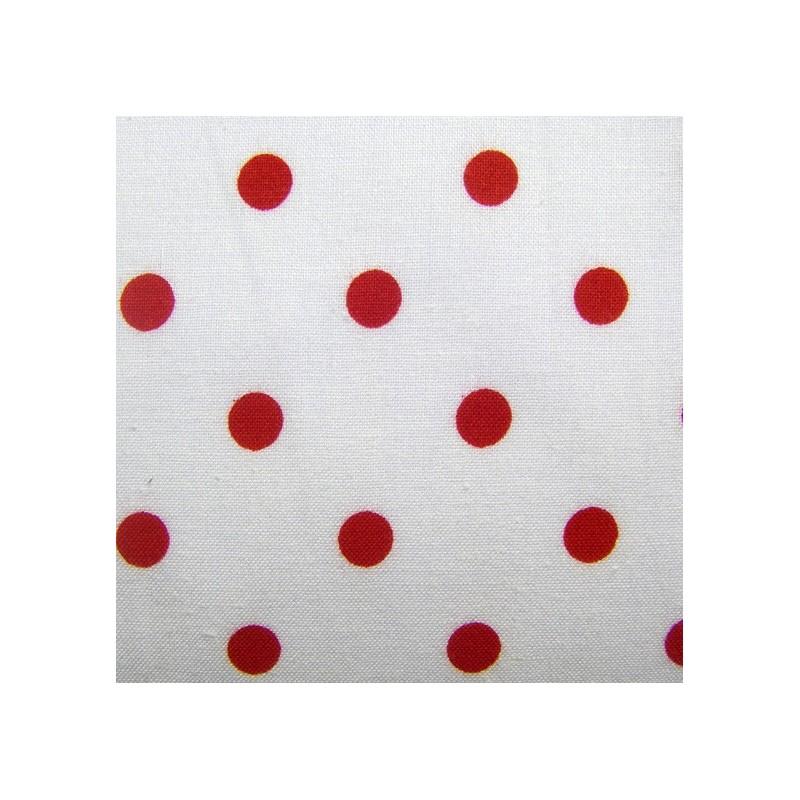 Tissu pois rouge sur fond blanc x 10cm ma petite mercerie - Imprimer photo sur tissu ...
