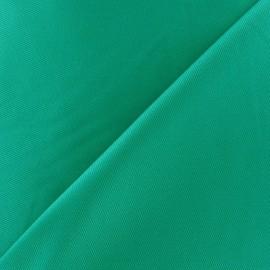 Tissu piqué de coton turquoise x 10cm