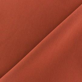 Tissu crèpe brique x 10cm