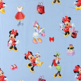 Tissu coton Disney Madshop rose x 64cm