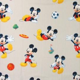 Tissu coton Disney Sportmick bleu x 63cm