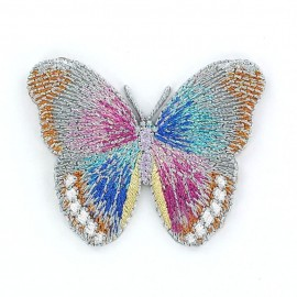 Thermocollant Papillon B Gris / Bleu