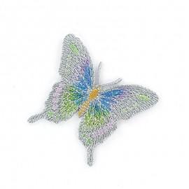 Thermocollant Papillon C Bleu / Gris