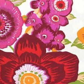 Tissu coton enduit Amparo Rose x 10cm