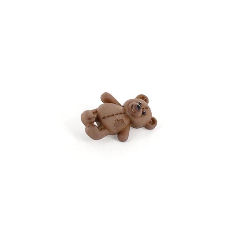 bouton polyester little teddy bear brun ma petite mercerie. Black Bedroom Furniture Sets. Home Design Ideas