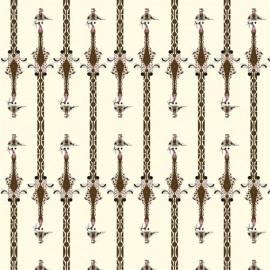 Tissu Toile de coton Charley Harper Nurture pour Birch - coton biologique - Girafe x 10 cm